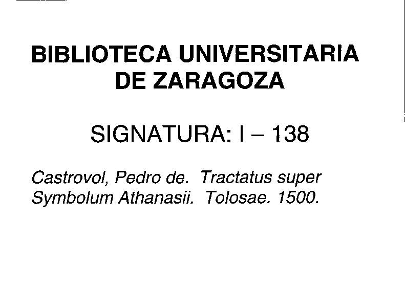 Tractatus super symbolum Athanasii