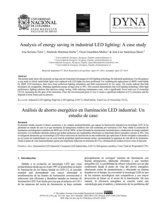 Análisis de ahorro energético en iluminación LED industrial: Un estudio de caso