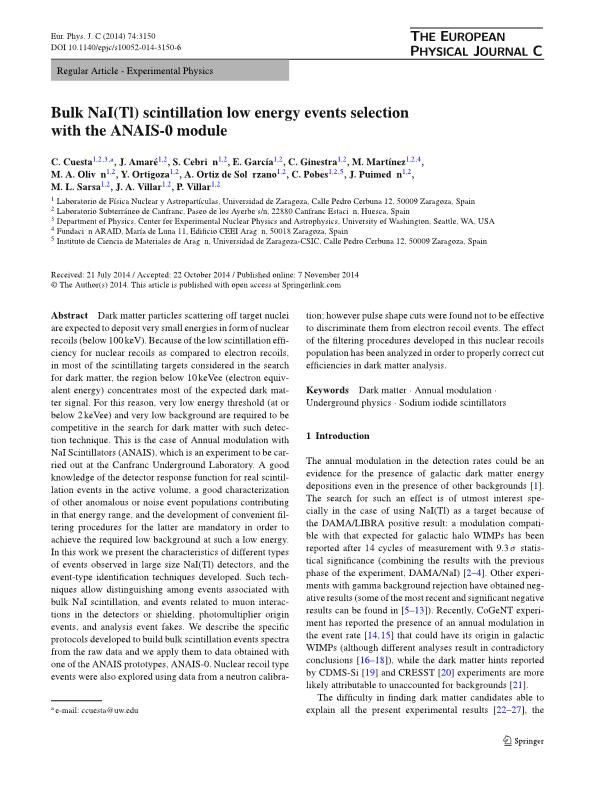 Bulk NaI(Tl) scintillation low energy events selection with the ANAIS-0 module