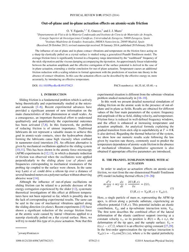 Out-of-plane and in-plane actuation effects on atomic-scale friction