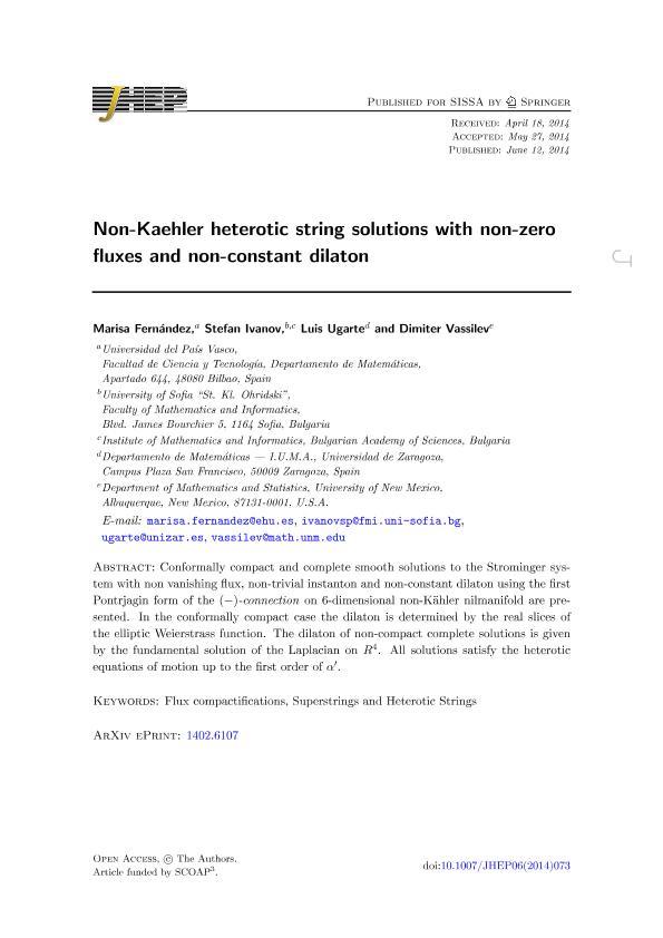 Non-Kaehler heterotic string solutions with non-zero fluxes and non-constant dilaton