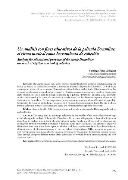 Un análisis con fines educativos de la película Drumline: el ritmo musical como herramienta de cohesión