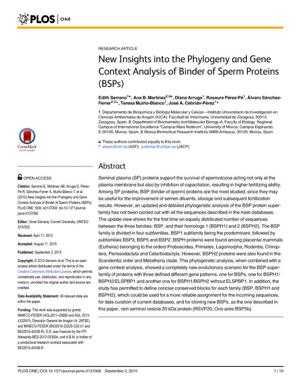 New insights into the phylogeny and gene context analysis of binder of sperm proteins (BSPs)