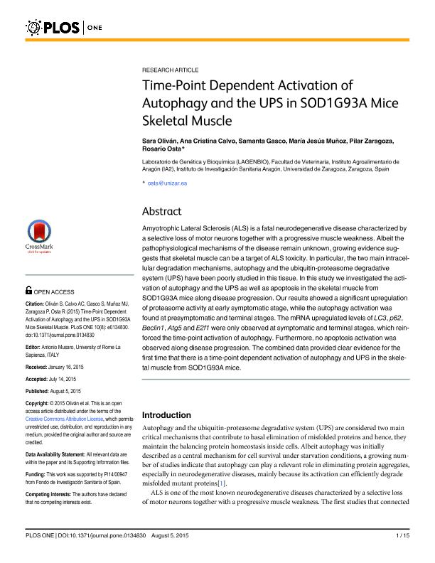 Time-point dependent activation of autophagy and the UPS in SOD1G93A mice skeletal muscle