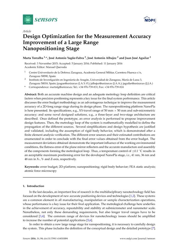 Design optimization for the measurement accuracy improvement of a large range nanopositioning stage