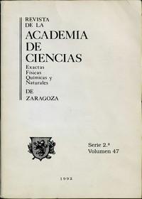 Revista de la Real Academia de Ciencias de Zaragoza, TOMO 47 (1992)