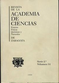 Revista de la Real Academia de Ciencias de Zaragoza, TOMO 51 (1996)