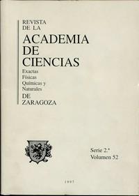 Revista de la Real Academia de Ciencias de Zaragoza, TOMO 52 (1997)