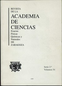 Revista de la Real Academia de Ciencias de Zaragoza, TOMO 54 (1999)