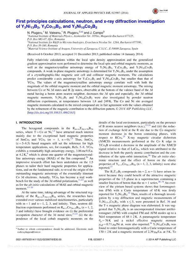 First principles calculations, neutron, and x-ray diffraction investigation of Y3Ni13B2, Y3Co 13B2, and Y3Ni10Co3B 2