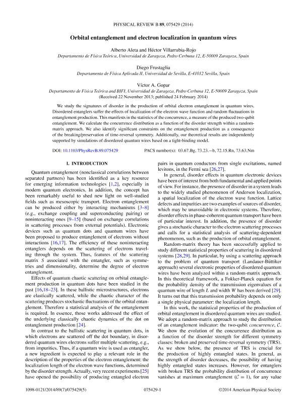 Orbital entanglement and electron localization in quantum wires