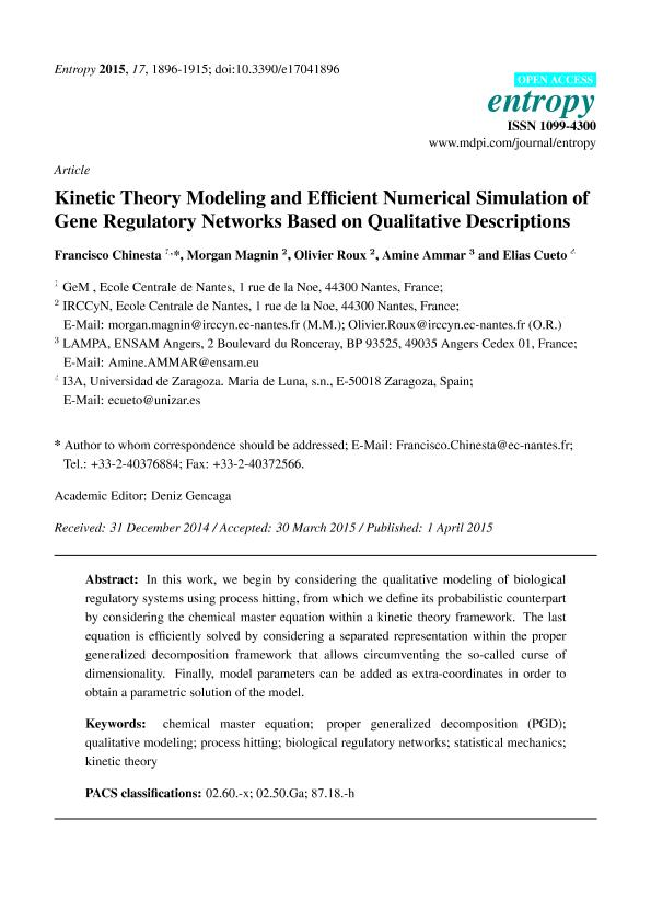 Kinetic theory modeling and efficient numerical simulation of gene regulatory networks based on qualitative descriptions