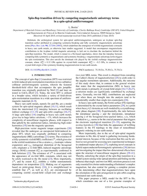 Spin-flop transition driven by competing magnetoelastic anisotropy terms in a spin-spiral antiferromagnet