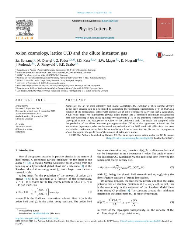 Axion cosmology, lattice QCD and the dilute instanton gas