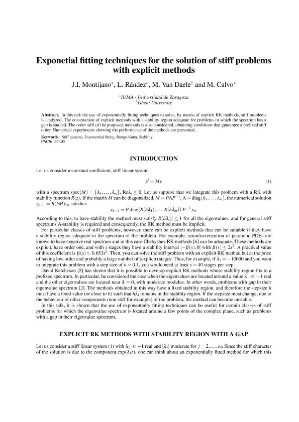 Exponential fitting techniques for the solution of stiff problems with explicit methods