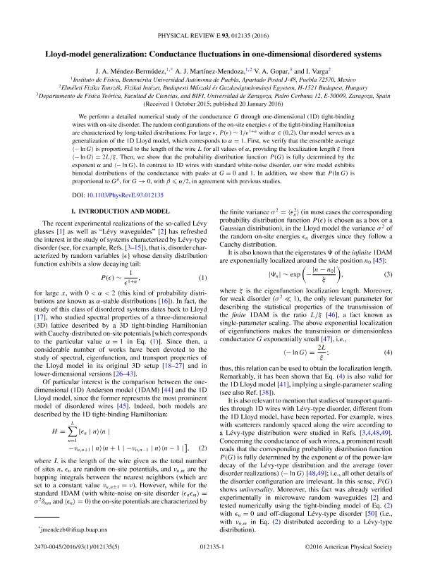 Lloyd-model generalization: Conductance fluctuations in one-dimensional disordered systems