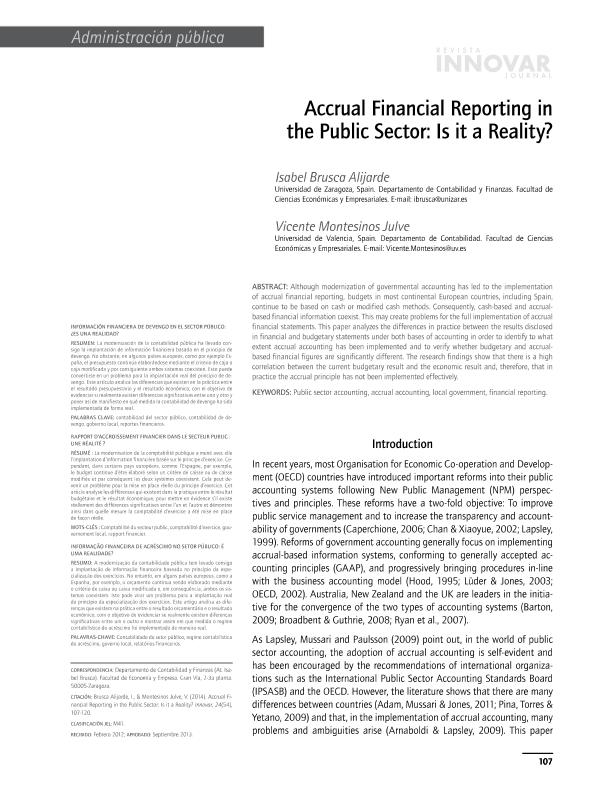 Accrual financial reporting in the public sector: Is it a reality?