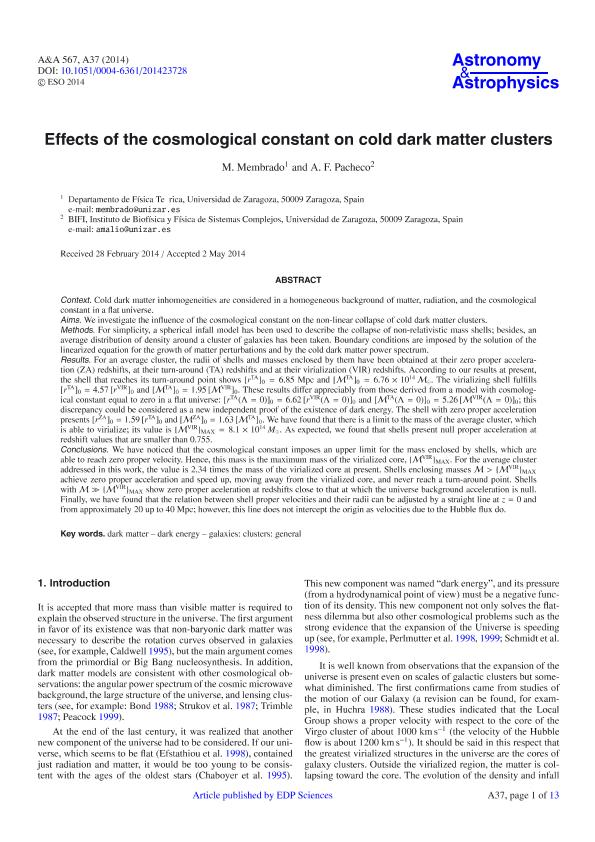 Effects of the cosmological constant on cold dark matter clusters