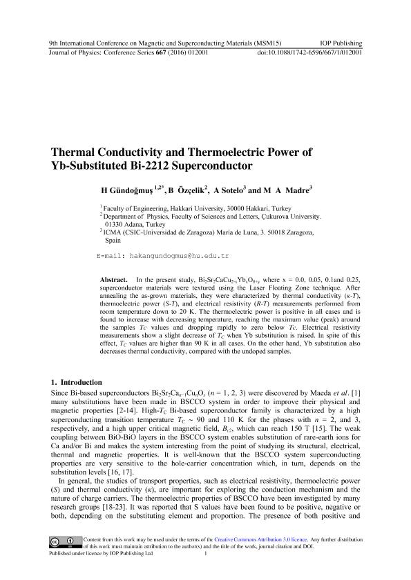 Thermal Conductivity and Thermoelectric Power of Yb-Substituted Bi-2212 Superconductor