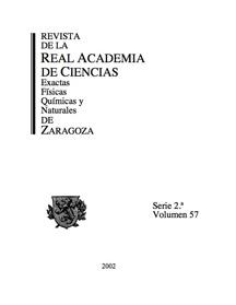 Revista de la Real Academia de Ciencias de Zaragoza, TOMO 64 (2009)