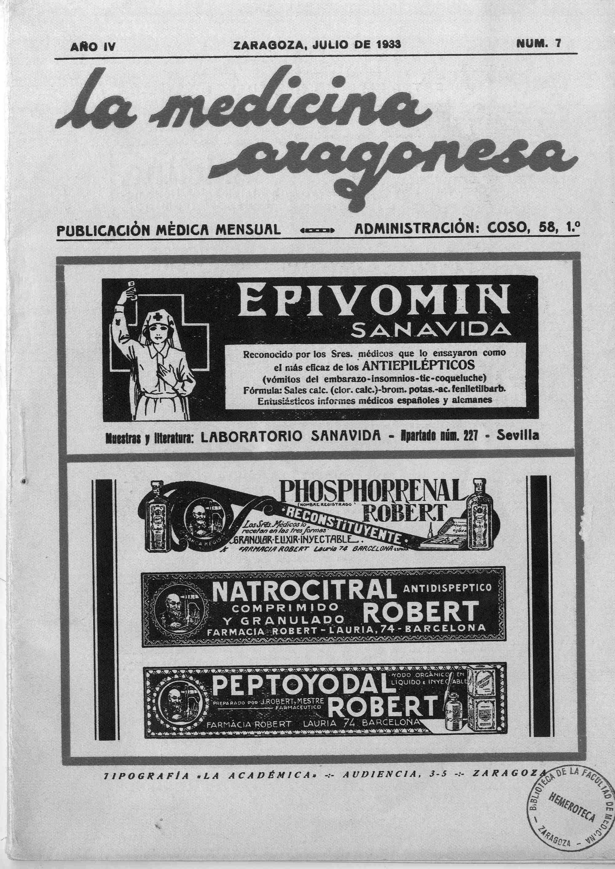 La medicina aragonesa, 2ª ép., Año 4, n. 7, (1933)