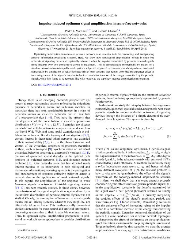 Impulse-induced optimum signal amplification in scale-free networks