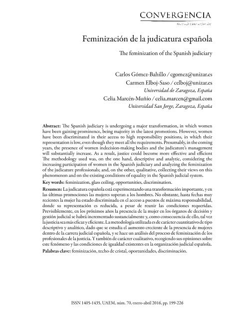 Feminización de la judicatura española