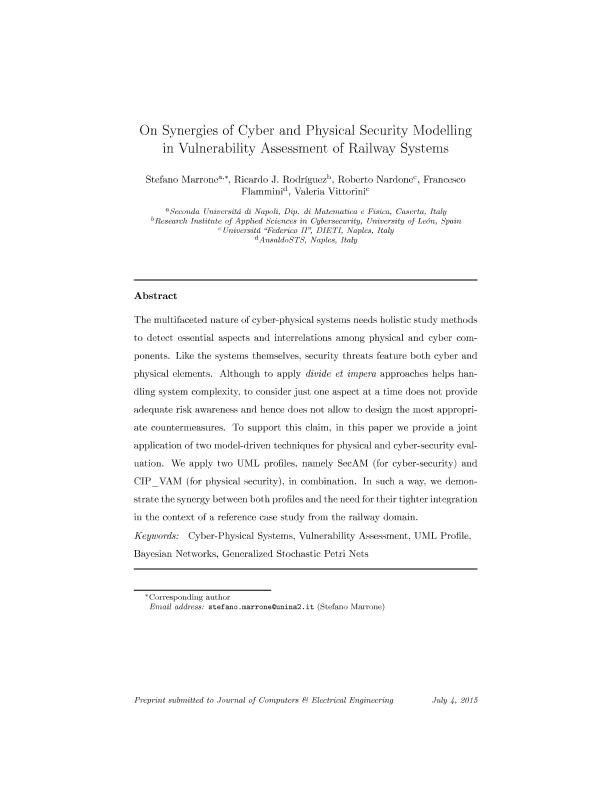 On synergies of cyber and physical security modelling in vulnerability assessment of railway systems