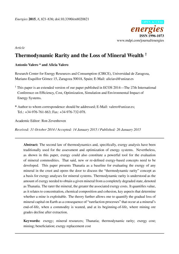Thermodynamic rarity and the loss of mineralwealth