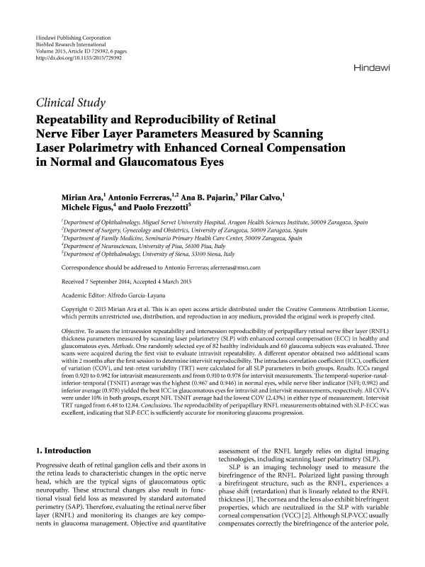 Repeatability and Reproducibility of Retinal Nerve Fiber Layer Parameters Measured by Scanning Laser Polarimetry with Enhanced Corneal Compensation in Normal and Glaucomatous Eyes