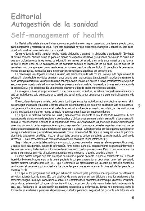 Autogestión de la sanidad