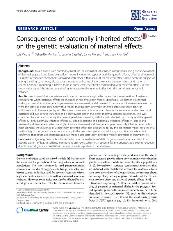 Consequences of paternally inherited effects on the genetic evaluation of maternal effects