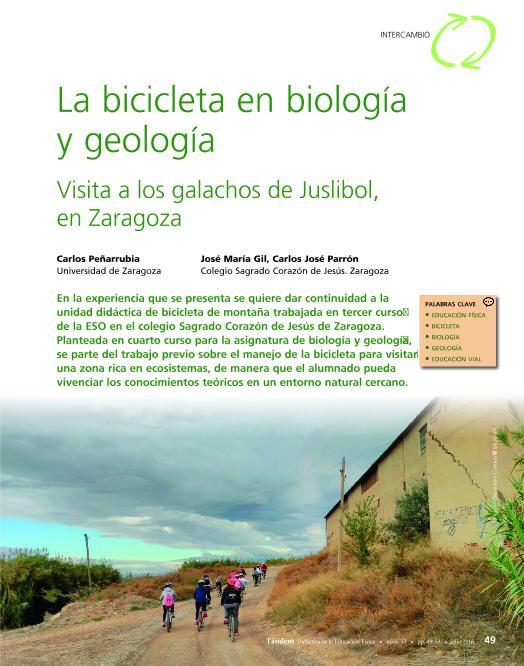 La bicicleta en Biología y Geología: visita a los galachos de Juslibol-Zaragoza
