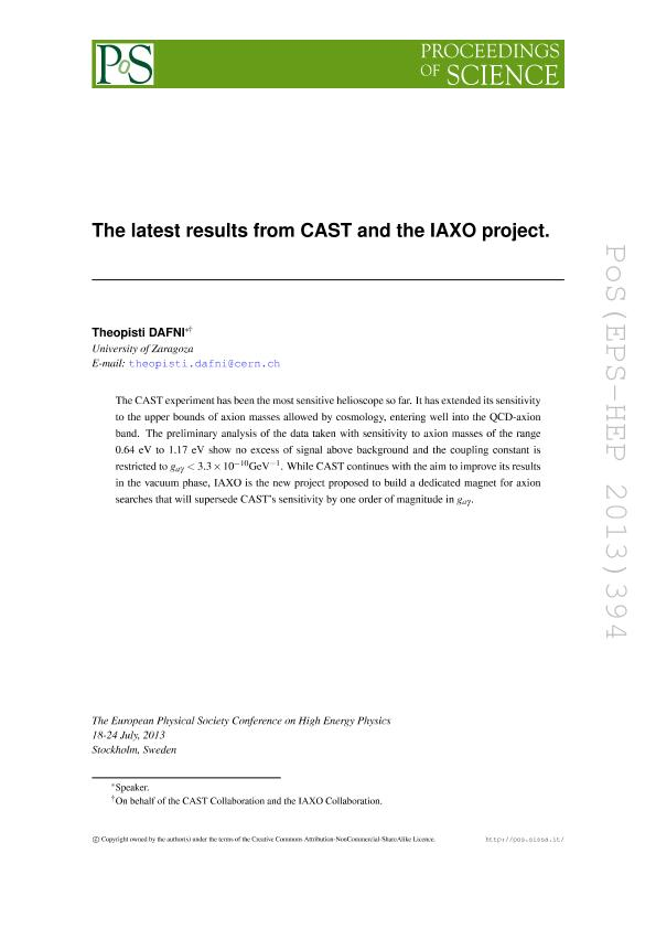 The latest results from CAST and the IAXO project