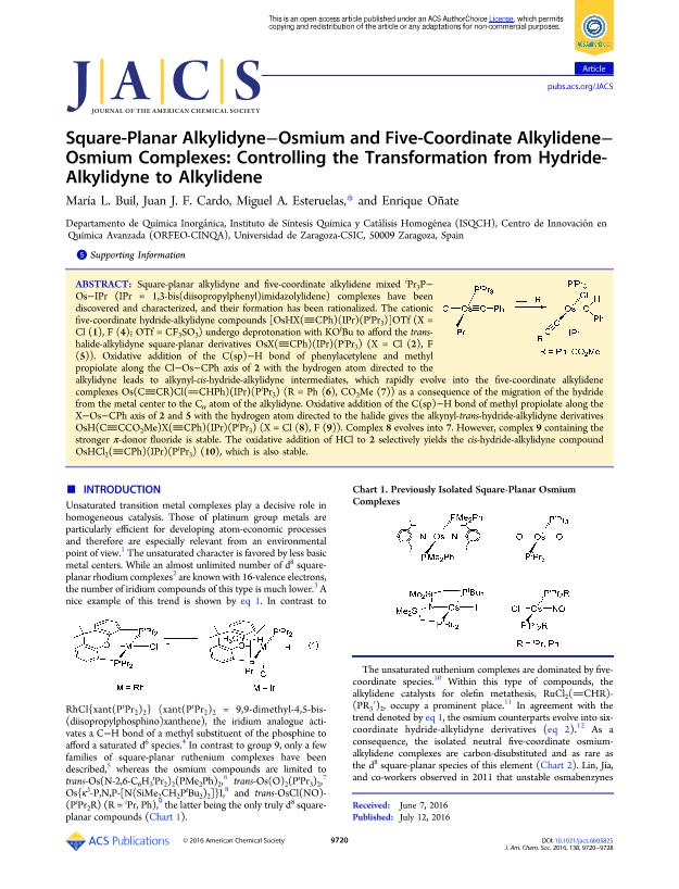 Square-Planar Alkylidyne-Osmium and Five-Coordinate Alkylidene-Osmium Complexes: Controlling the Transformation from Hydride-Alkylidyne to Alkylidene