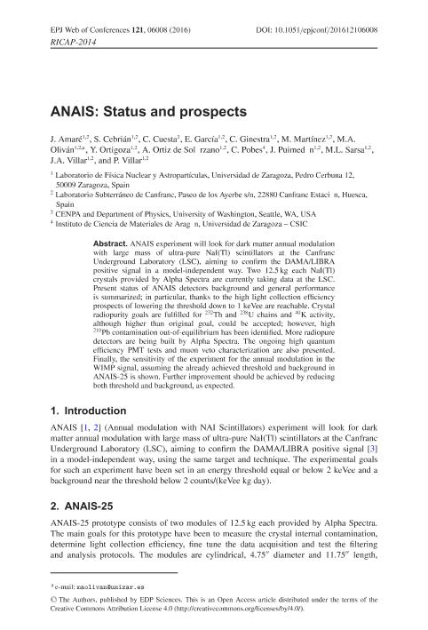 ANAIS: Status and prospects