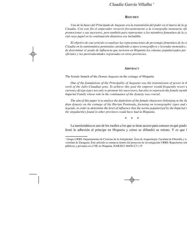 La rama femenina de la Domus Augusta en la amonedación hispana