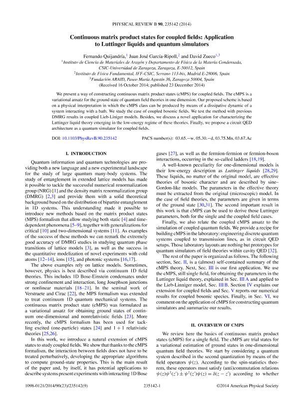 Continuous matrix product states for coupled fields: Application to Luttinger liquids and quantum simulators