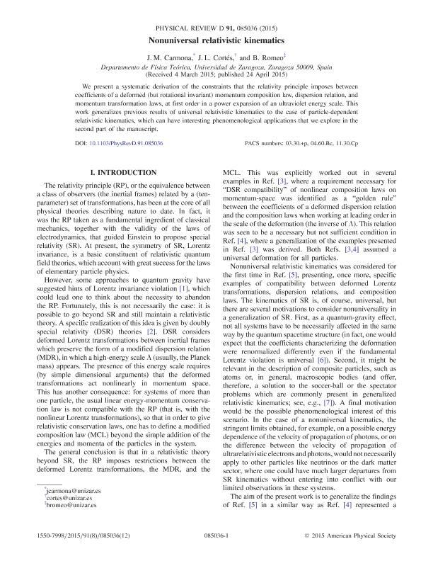 Nonuniversal relativistic kinematics
