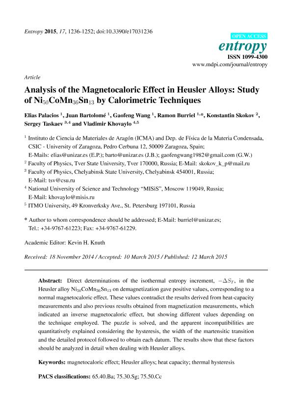 Analysis of the magnetocaloric effect in Heusler alloys: Study of Ni50CoMn36Sn13 by calorimetric techniques