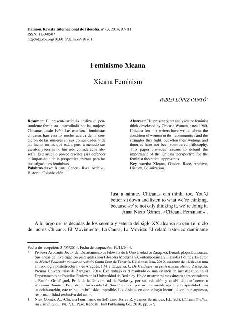 Feminismo Xicana