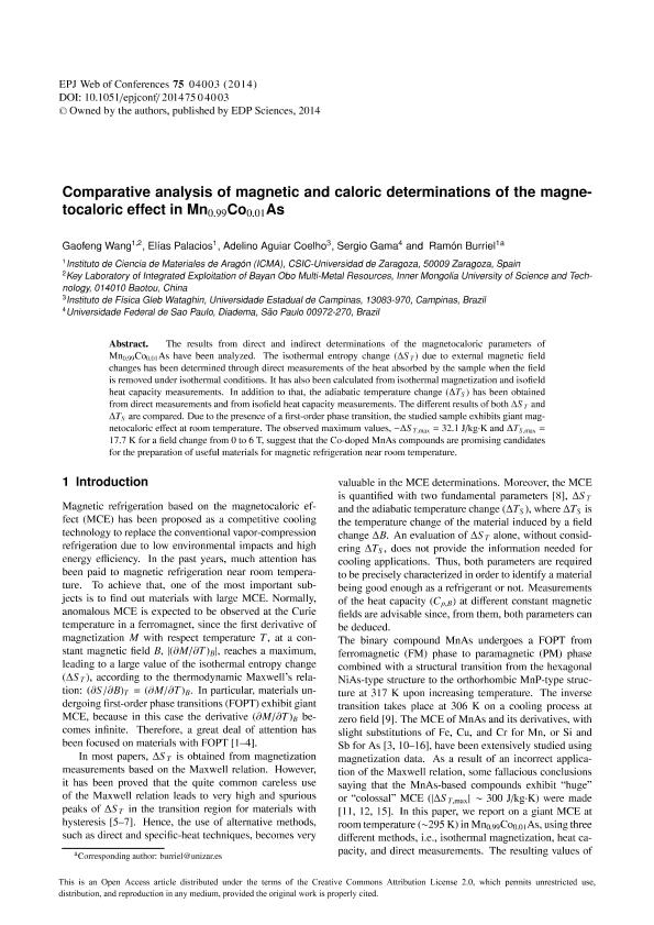 Comparative analysis of magnetic and caloric determinations of the magnetocaloric effect in Mn0.99Co0.01As