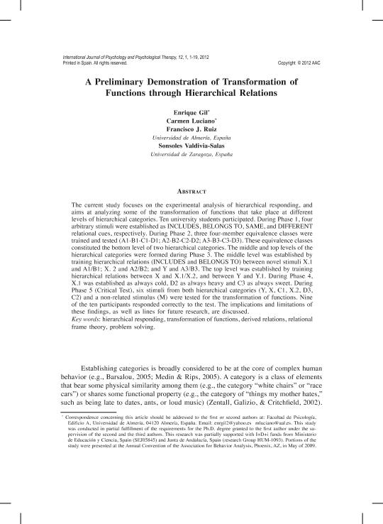 A preliminary demonstration of transformation of functions through hierarchical relations