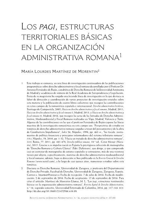 Los pagi, estructuras territoriales básicas en la organización administrativa romana