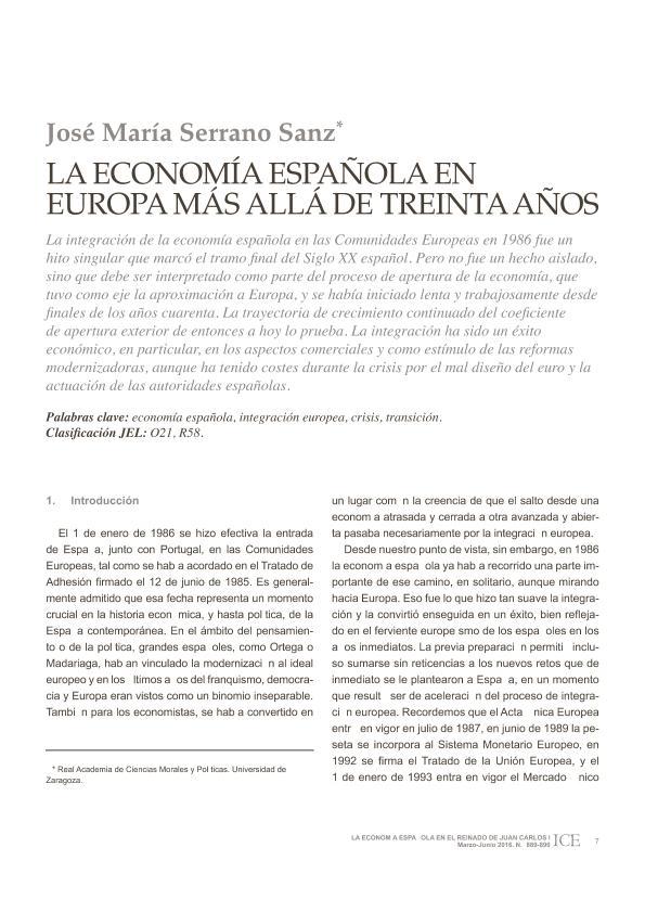 España en Europa. Más allá de treinta años