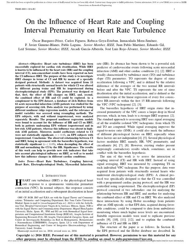 On the Influence of Heart Rate and Coupling Interval Prematurity on Heart Rate Turbulence