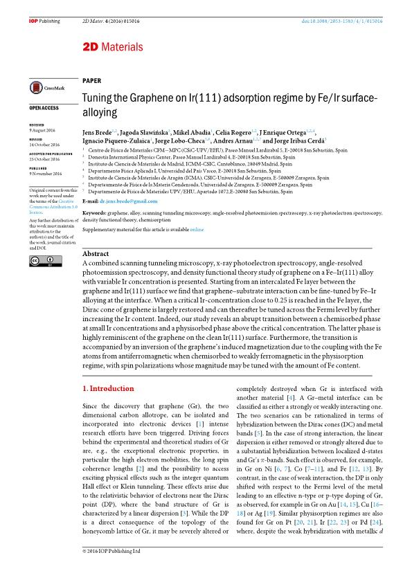 Tuning the Graphene on Ir(111) adsorption regime by Fe/Ir surface-alloying