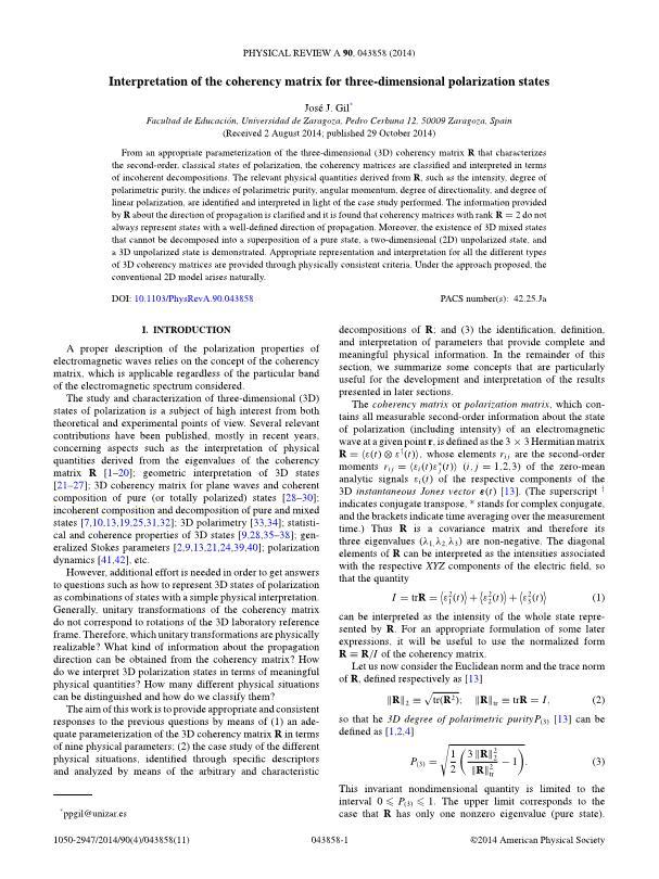 Interpretation of the coherency matrix for three-dimensional polarization states