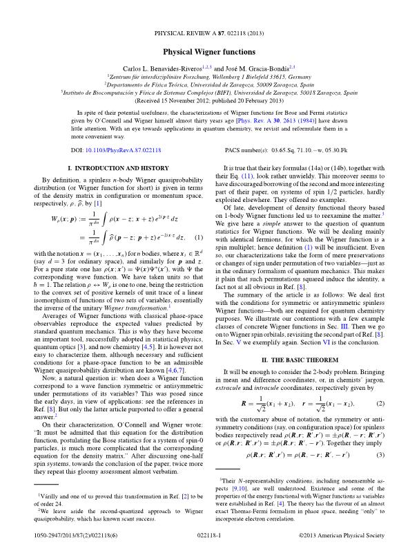 Physical Wigner functions