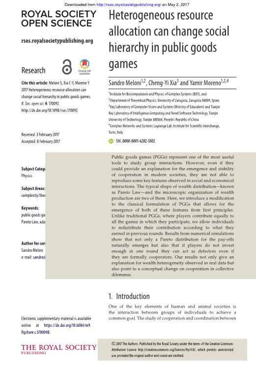 Heterogeneous resource allocation can change social hierarchy in public goods games